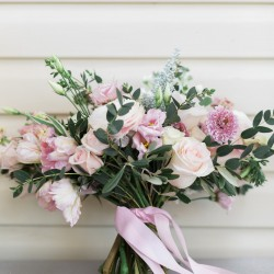Unstructured, blush bouquet