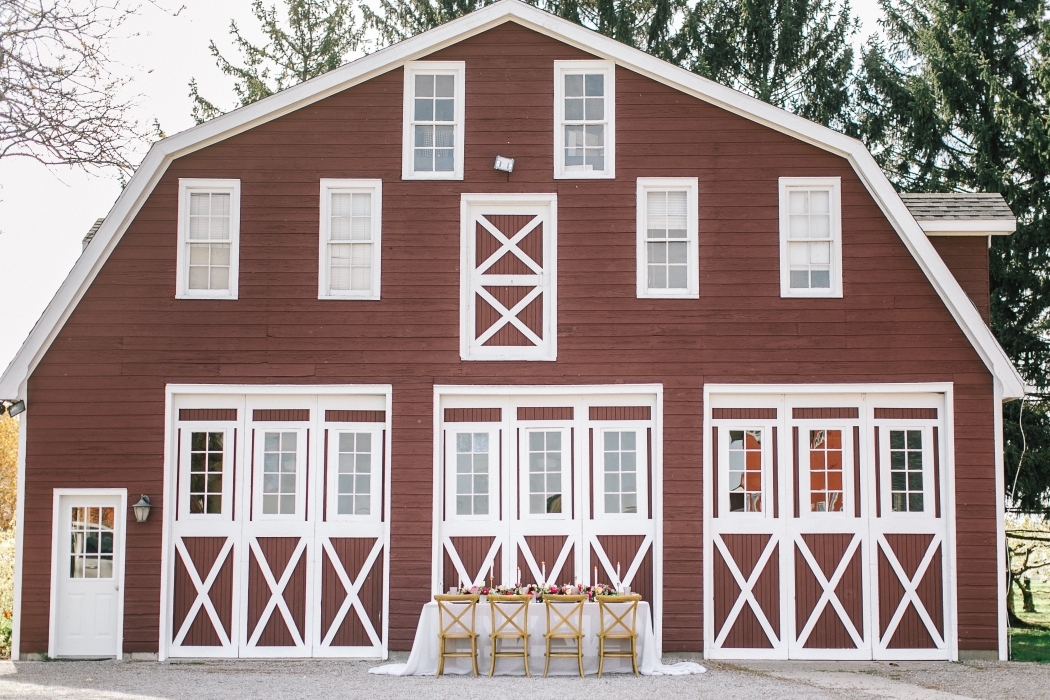 The old barn renovated into a wedding venue}