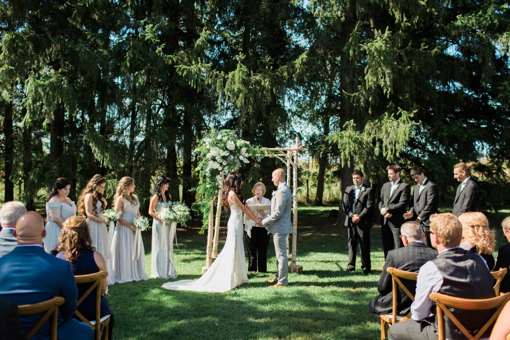 Cambium Farms wedding ceremony}
