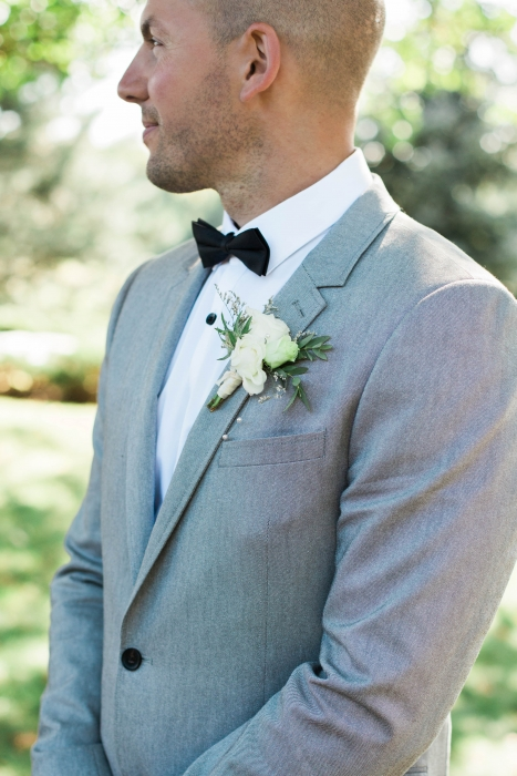 Grooms Boutonniere at Cambium Farms wedding}