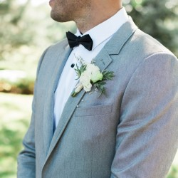 Grooms Boutonniere at Cambium Farms wedding