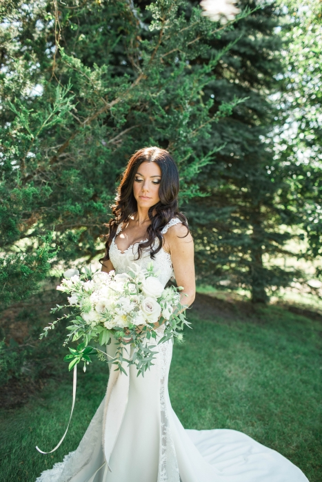 Chantelle at her Cambium Farms wedding}