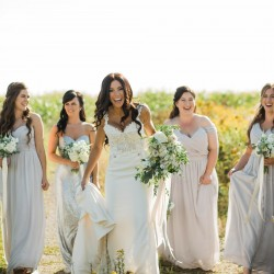 Bride and her bridesmaids, Cambium Farms