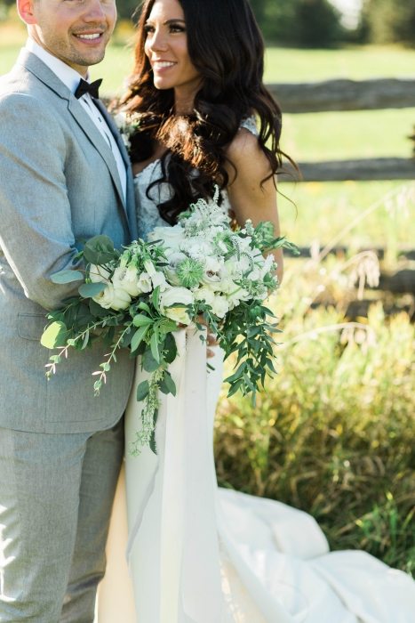 White bridal bouquet, Cambium Farms}