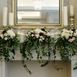 Fireplace Mantel for ceremony site, Mango Studios