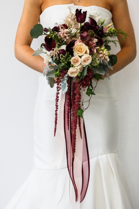 Megan Preece Photography, marsala & blush unstructured bouquet, The Spice Factory