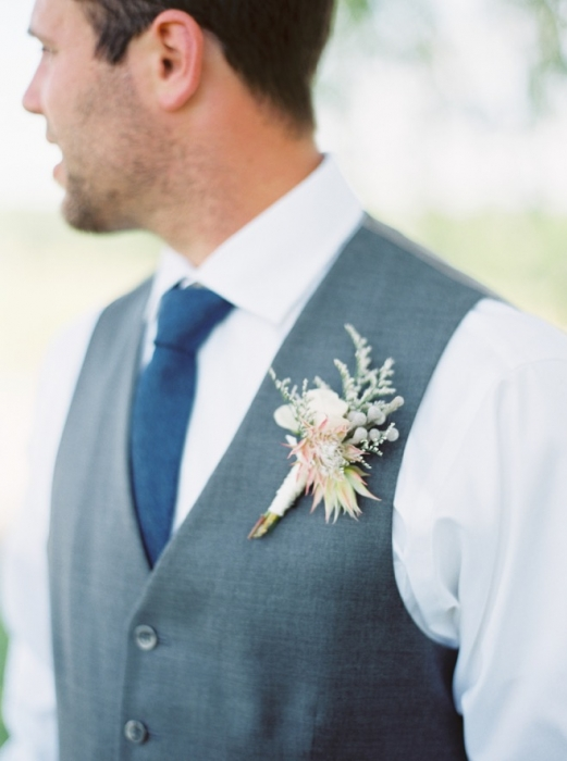 Katie Nicole Photography, boutonniere, Vineland Estates Winery