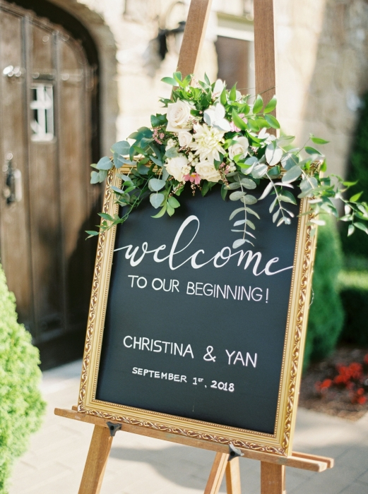 Photos by Caileigh, Welcome sign at Vineland Estates Winery, Vineland, Ontario