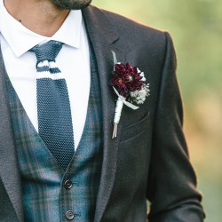 Tamara Lockwood Photography, marsala boutonniere, Vineland Estates Winery