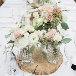 Karyn Louise Photography, vintage vases with ivory and blushes, at The Good Earth, Beamsville