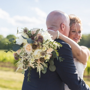 Joanna & Jesse Wedding at Vineland Estates Winery. Photo by Megan Preece Photography